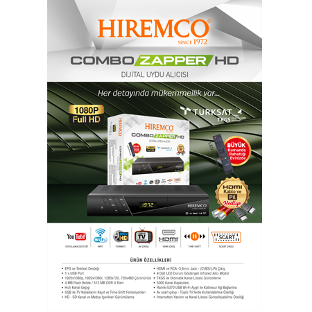 Hiremco Combo Zapper Hd